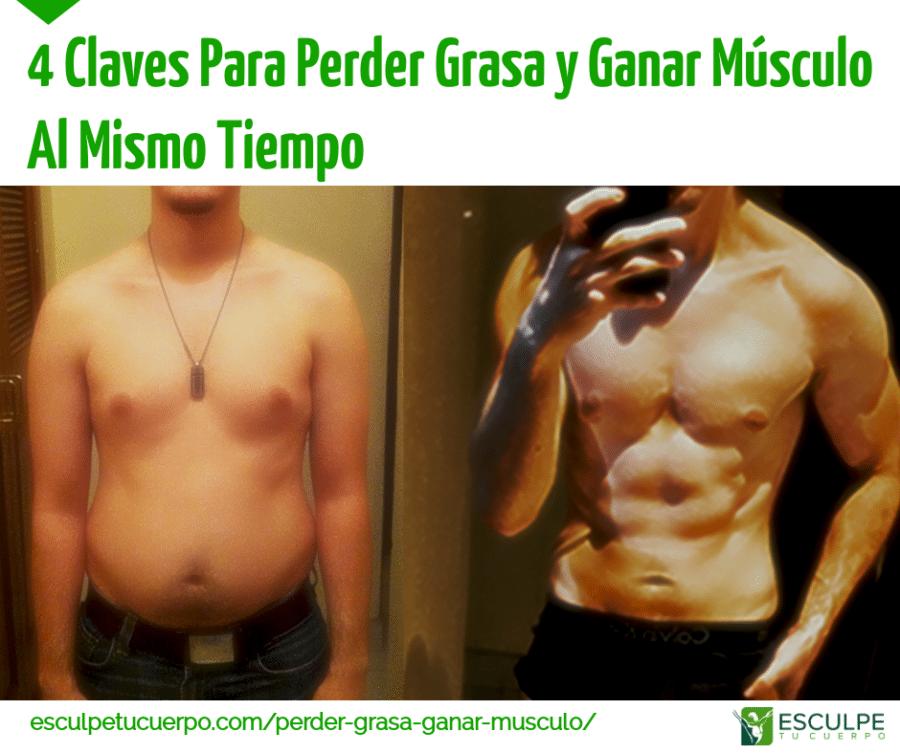 la pérdida de grasa gana entrenamiento muscular