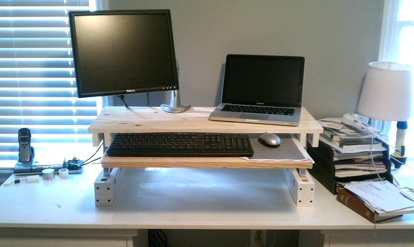 escritorio parado