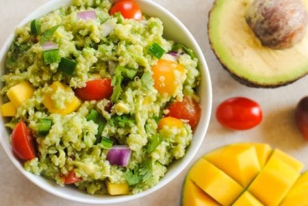 guacamole con quinoa