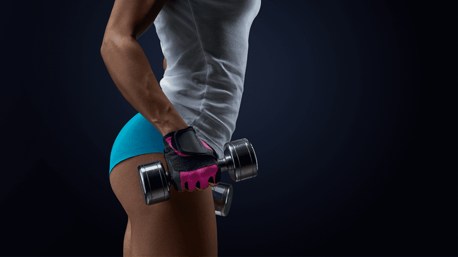 mujer fit gluteos