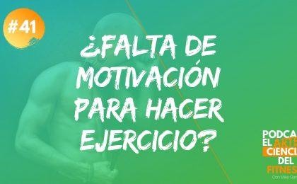 falta de motivación para hacer ejercicio